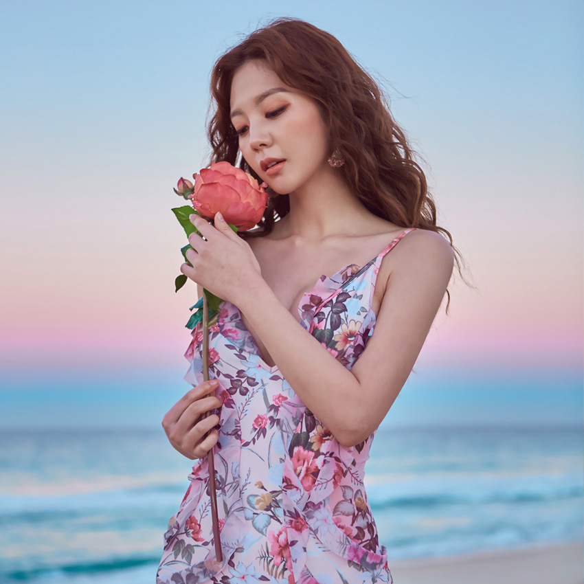 ROSE TEA SWIMSUIT (1P)