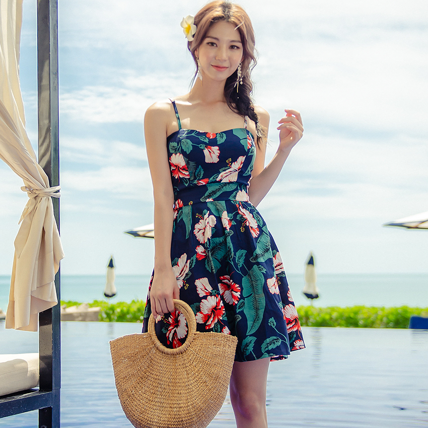 HIBISCUS TUBE TOP DRESS