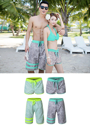 RIPPLE ACTIVE SHORTS (COUPLE SET)