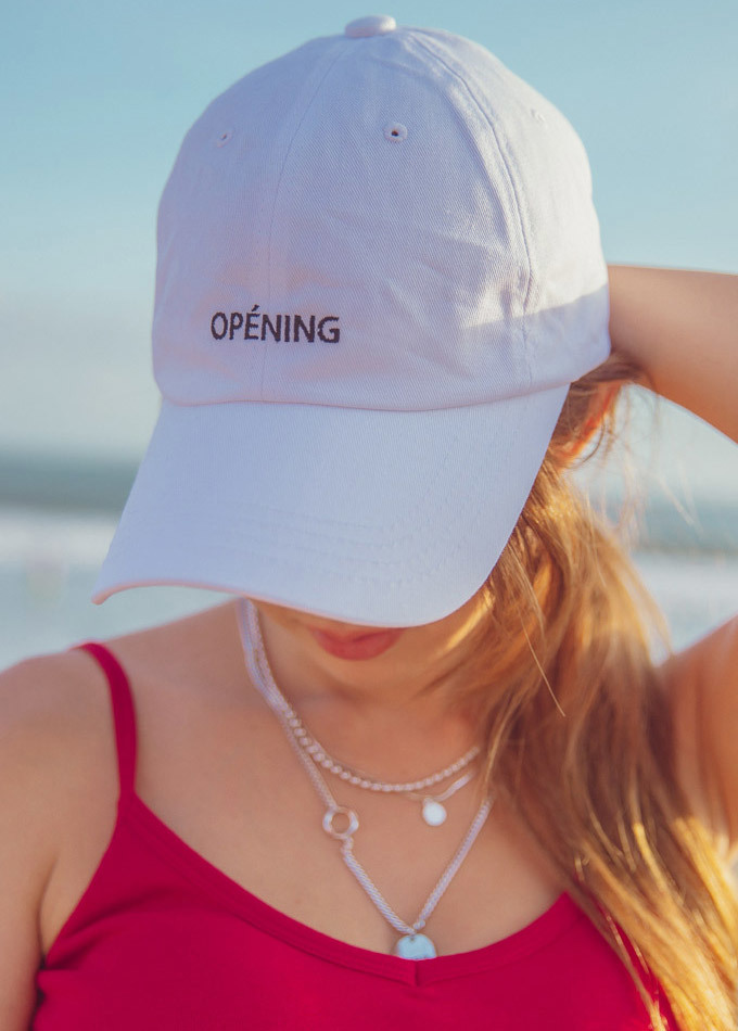 Opening Embroidery Ball Cap