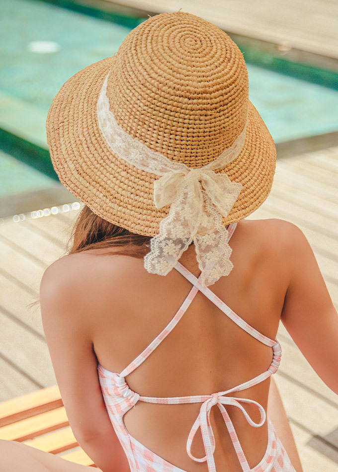 Girl lace bucket hat