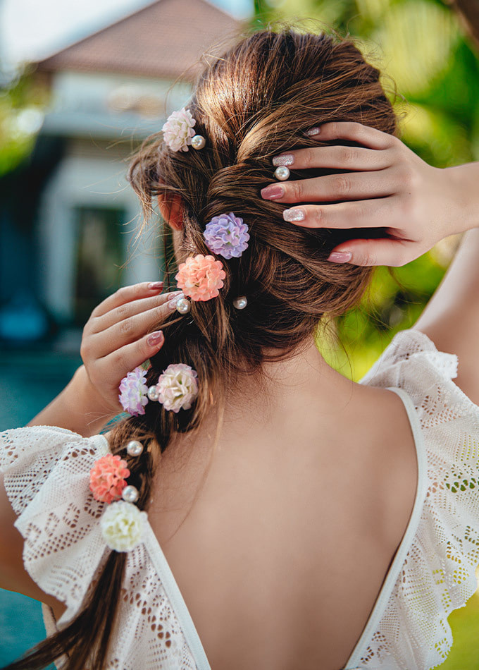 Romantic Flower Pearl Hairpin